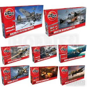 AIRFIX-1-72-WW2-BOMBER-MODEL-KITS-Flying-Fortress-Heinkel-Bristol-Avro-Lancaster
