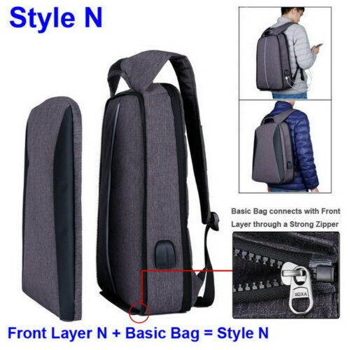 One Backpack Two Styles 17 Inch Laptop Business Travel School Bag For Women Men