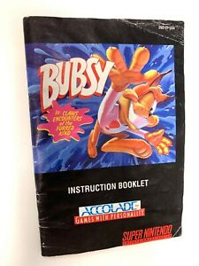 Bubsy-SNES-Super-Nintendo-Instruction-Manual-Only-Booklet-Book