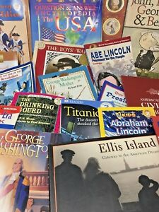 MIXED-LOT-20-children-039-s-elementary-US-American-history-nonfiction-books-random