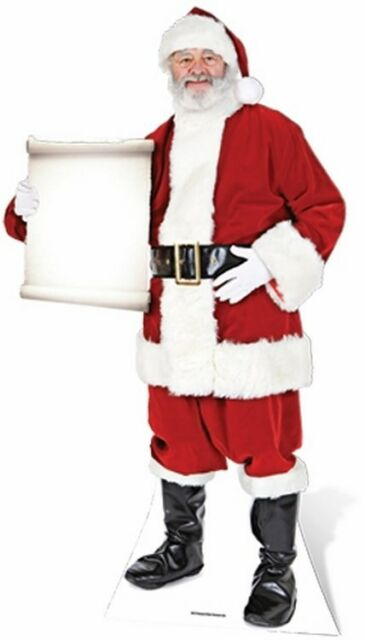 SANTA CLAUS WITH SCROLL Christmas Lifesize CARDBOARD CUTOUT Standup Standee F//S