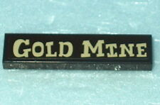 DECORATED TILE Lego Gold Mine 1x4 Dk Brown  NEW stk