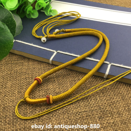 Adjustable Taiwan Line HandWoven Braided Beads String Rope Cord Pendant Necklace