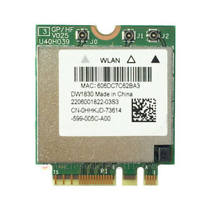Dell-Wireless-1830-ABGNAC-WLAN-BT-NGFF-Card-BCM943602BAED-GKCG2-For-XPS-15-9550