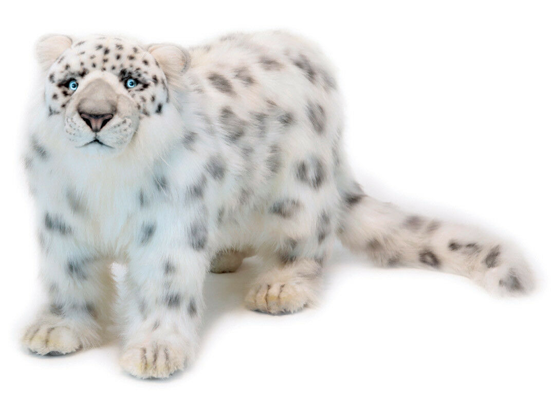 Snow Leopard collectable plush realistic soft toy by Hansa - 56cm - 4272