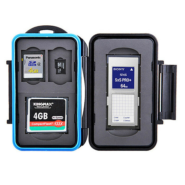 Flash Memory Card Storing Protection Waterproof Case SXS CF SD Micro SD Card