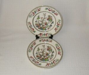 Johnson-Brothers-INDIAN-TREE-Luncheon-Plates-Set-s-of-4-Made-in-England