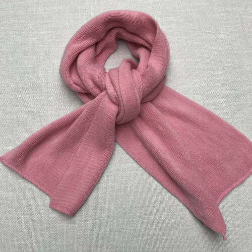Unisex Solid Color Knit Thick Cashmere Long Scarves Fashion Winter Warm Scarf