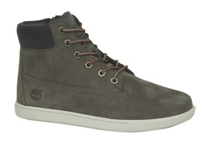 lateral de con botas color cordones A143m Cremallera cuero U75 de Groveton caqui Juventud chukka Timberland BPnFtq