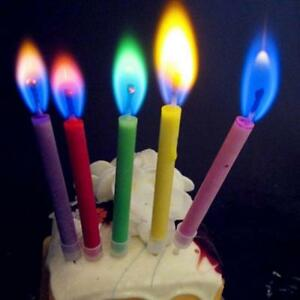 Image Is Loading Cute 12pcs Flame Candles Colored Birthday Cake Party