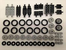 LEGO - NUOVO LOTTO DI RUOTA & ASCIA SET (include 2 MOTORE BICICLETTA - 64 pezzi