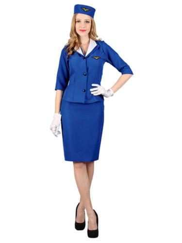 petit ajustement Mesdames PAN-AM Air Hostess Fancy Dress Cabine Hôtesse Costume
