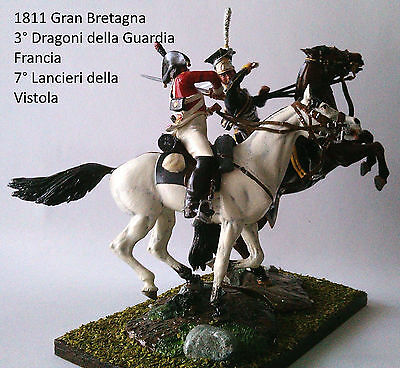 1811 Francia Gran Bretagna Diorama Hq Painted 54 Mm Lead Soldier Very Detailed Una Gamma Completa Di Specifiche