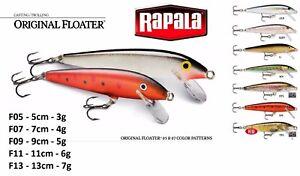 Rapala-Original-Floater-5cm-7cm-9cm-11cm-13cm-3g-4g-5g-6g-7g-Various-Colours
