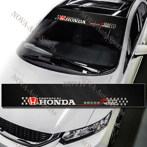 HONDA Logo Car Window Windshield Carbon Fiber Vinyl Banner Decal - Honda decal stickers for cars