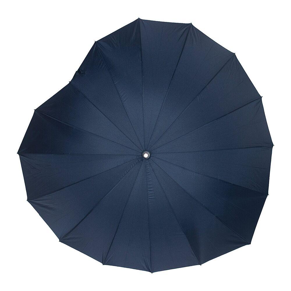 100% Vrai Soake Boutique Cœur Forme Long Bâton Parapluie (marine) Grand Assortiment