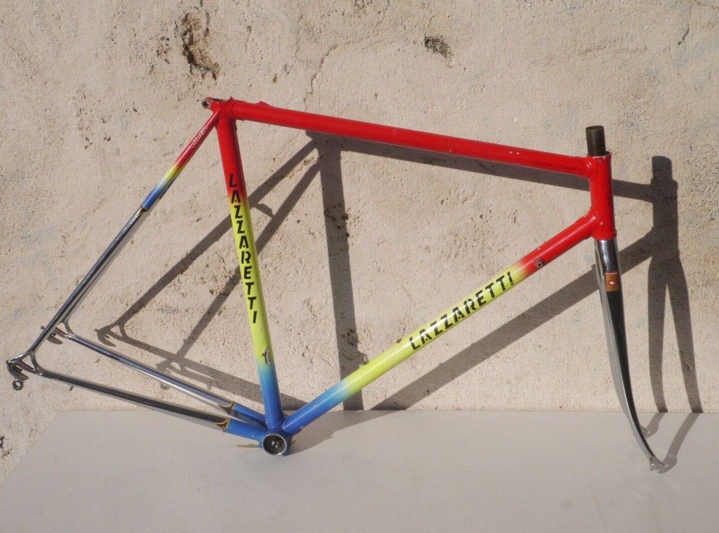 Lazzaretti road bike steel frame-set, Columbus Slx, 53 cm, Cinelli BB Campagnolo