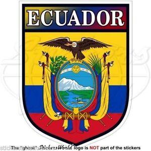 ECUADOR-Ecuadorian-Shield-South-America-Vinyl-Bumper-Decals-Stickers-4-034-100mm