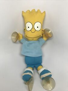 Vintage 1990 Bart Simpson Stick-On Car Window Suction Doll The Simpsons Groening