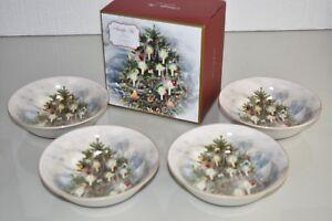 Neuf En Boîte Cadeau Pottery Barn Set De 4 Nostalgique Arbre Bols Bol Noël 8 Av L7jlqxbz-07224404-800137457