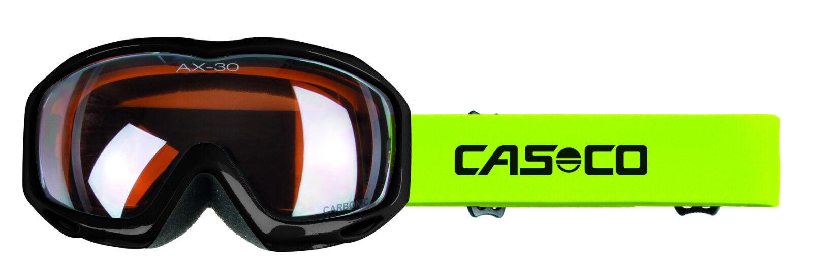 CASCO AX-30 PC Skibrille Schneebrille schwarz neon U     19.07.4410.05 099d7a