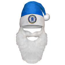 Chelsea FC ufficiale Regalo Natale Babbo Natale Cappello Beanie con barba
