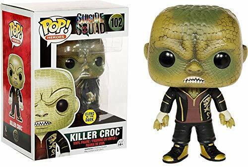 Funko Pop  Heroes Suicide Squad - Killer Croc Glows In The Dark Vinyl Figure