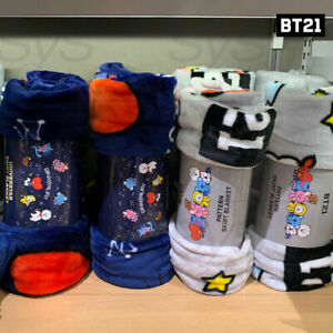 BTS-BT21-Official-Authentic-Goods-SKIRT-Blanket-2TYPE-Tracking-Number