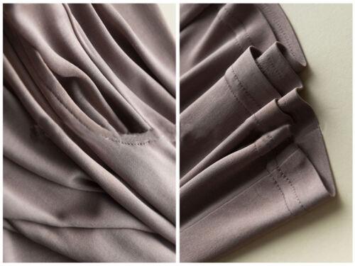 Pantaloni Pantaloni seta a Pantaloni larga gamba caviglia vita donna in di elastica casual maglia in alla rvawWHf0qr