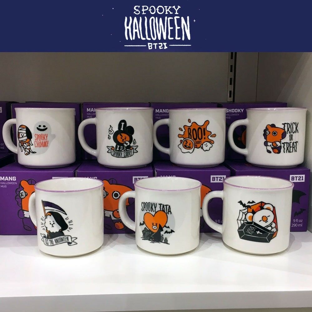 BTS BT21 Official Authentic Goods Mug Halloween Ver 9fl.oz 7 Characters | Verschiedene Arten Und Die Styles