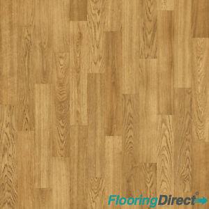 Non Slip Vinyl Flooring Classic Oak Wood Effect Lino Kitchen Bathroom 2m 3m 4m Ebay