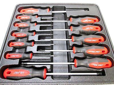 US Pro by Bergen Tools 12pc Torx Screwdriver SetT6 to T45 Torxs 1529