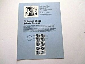 Souvenir Pages (3), 1982, Ralph Bunche, Amer Libraries, BigHorn Sheep, 20 cent