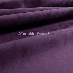 10-Metres-Of-Luxurious-Plump-Chenille-Invitingly-Soft-Upholstery-Fabrics-Purple
