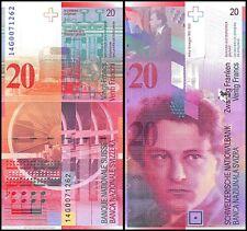 Switzerland 20 Francs, 2014, P-69h, UNC