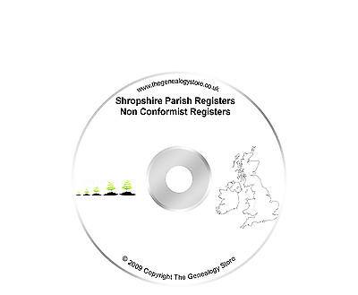 Accurato Shropshire Parish Registri Non Conformista Registri- Vendita Calda Di Prodotti