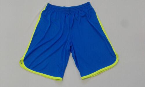 FOOTEX Pantaloncino Bermuda BASKET FREE TIME Azzurro//Giallo Fluo Made in Italy