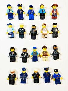 5 LEGO POLICE SWAT MINIFIGS FIGURES LOT gun army city random bulk w// accessories