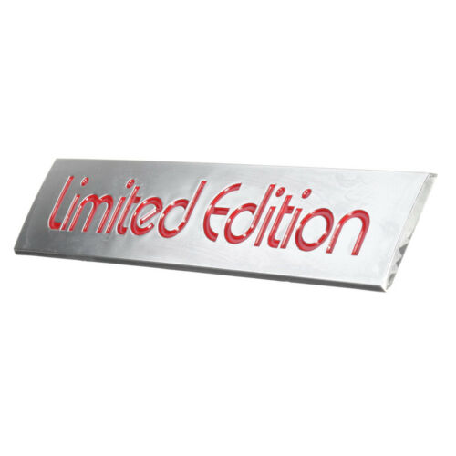 3D Red Limited Edition Logo Emblem Badge Plastic Sticker Decal Car Accessories