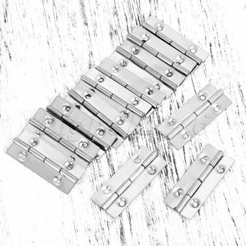 Hot 35*15mm Door Hinges Cabinet Jewelry Box Cupboard Butt Hinges Stainless Steel