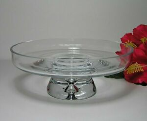 VISLA-GLASS-Odin-FOOTED-STAND-Bubble-Base-Made-in-POLAND-Immaculate
