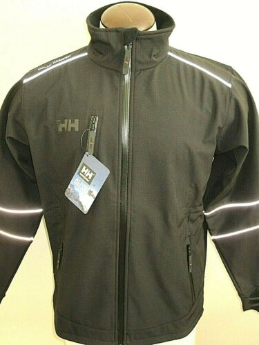 Helly Hansen Mens Barcelona Softshell Fleece Lined Jacket Black Size XL NWT