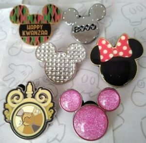 Mickey-Mouse-Head-Icon-Ears-Set-Minnie-Mouse-Bow-Choose-a-Disney-Pin