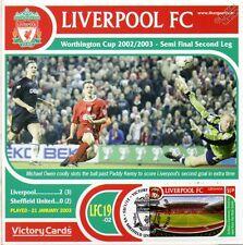 Liverpool 2002-03 Sheffield Utd (Michael Owen) Football Stamp Victory Card #219