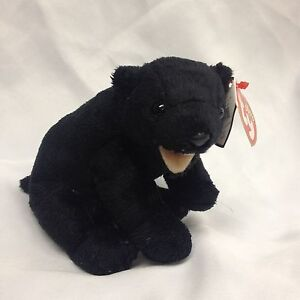 Image is loading Ty-Beanie-Baby-Cinders-Black-Bear bf227fe9e98