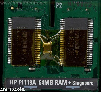 HP Omnibook 800 800CT 800CS 64MB RAM Memory Module RARE