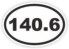 Ironman 140,6 millas Oval pegatina Correr Nadar Paseo En Bicicleta Carrera 226.0 Km