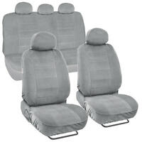 Car Seat Covers Encore Material Gray Cloth Set Of 9pc Padded on sale