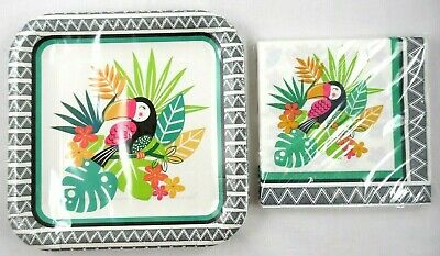 Jungle Tucan Bird 12 Plates 18 Napkins Beach Party Cookout Any Occasion Set 639277269317 Ebay