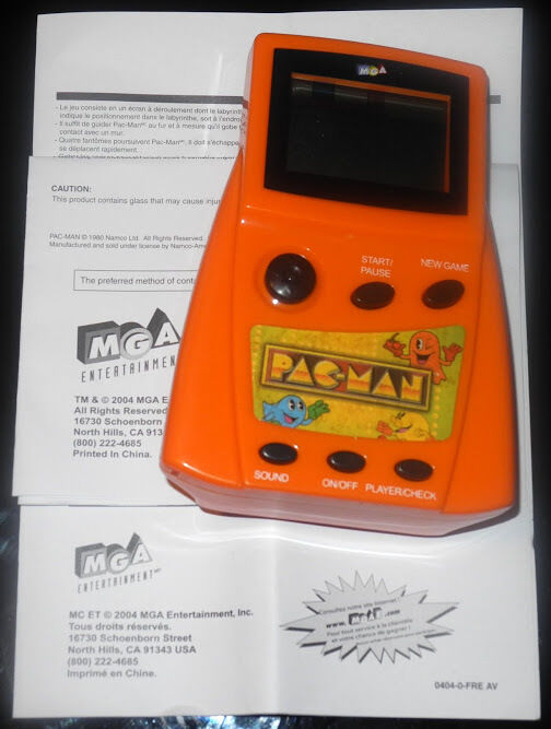 NEW Classic Arcade orange Pacman Pac-Man Handheld Game F294711